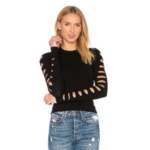 NWT Autumn Cashmere Slash Sleeve Cropped Sweater